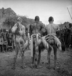 Korongo wrestlers, Kordofan, Southern Sudan 1949