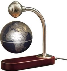 Floating World Globe (Free Shipping) The globe floats magically between the polished silver-toned metal arm and cherry finished wood base.
