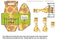 Over the Edge Giraffe Goodie Gift Treat Box on Craftsuprint - Add To Basket!