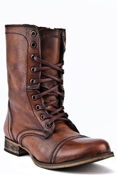 "http://www.madpinner.com/steve-madden-womens-troopa-ankle-bootcognac-leather8-5-m-us/ Steve Madden, the company, was founded by Steve Madden, the man, in 1990 in Brooklyn, where he started out making trend-advancing shoes one pair at a time. It was not long after that the Steve Madden focus on ""now-ness"" earned rave reviews from young female fans mad for the funky, chic, and yet competitively priced footwear it produced. The company popularized t..."
