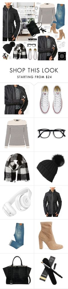 """""""Narvik works jacket from day to night"""" by electric-bird ❤ liked on Polyvore featuring Converse, Saint James, Barneys New York, Black, Beats by Dr. Dre, Steve Madden, Fendi and Chanel"""