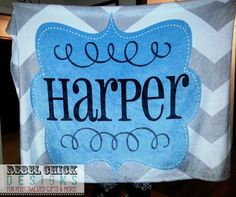 Personalized  Blanket by RebelChickBoutique on Etsy, $55.00