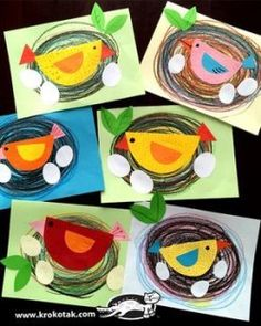 Super bird nest craft preschool art projects 66 ideas You are in the right place about k Spring Art Projects, Spring Crafts For Kids, Projects For Kids, Art For Kids, Bird Crafts Preschool, Kindergarten Art Projects, Spring Craft Preschool, Free Preschool, Arte Elemental