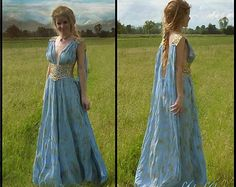 Game of Thrones Daenerys Qarth Blue Dress with by ViolaVictoria