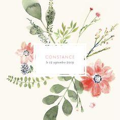 Le faire-part de naissance Fleurs aquarelle photo est une ode à la nature, revue et corrigée à la manière d'une aquarelle ancienne. ...