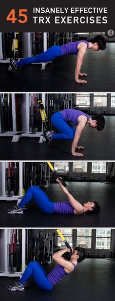 TRX Exercises--Can't wait to try these!