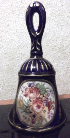 "OTCO Capodimonte Porcelain Bell VTG 8.5"" Italy Floral Bouquet Vintage Stamped | eBay"