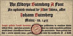 Gutenberg Calligraphy Font