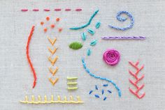 Learning hand embroidery is fun and easy with these 15 essential stitch tutorials for beginners and experienced stitchers!
