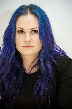 """""""Jewel-toned mermaid"""" was the goal for Anna Paquin, whose hair Friedman dyed quite recently. It was apparently the True Blood actress' dream-come-true to adopt a supernatural hue.  #refinery29 http://www.refinery29.com/colorful-hair-tips#slide-26"""