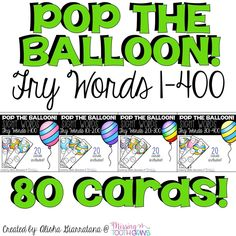 Pop The Balloon! Fry Words Bundle by Missing Tooth Grins Guided Reading Level Chart, Guided Reading Groups, Reading Centers, Reading Lessons, Reading Corner Classroom, Phonics Reading, Reading Games For Kids, Reading Activities, Reading Art