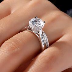 Jeulia Milgrain Round Cut Created White Sapphire Wedding Set 1.75CT- Jeulia Jewelry