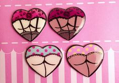 Booty Brooches: Choose Your Style Nice or Naughty von TheTinyHobo