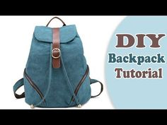 Best DIY Backpack design ever! Sew it from scratch by own hands really easy! ✂ Materials you need to make this DIY backpack: - the fabric - s. Backpack Tutorial, Diy Backpack, Backpack Pattern, Diy Tote Bag, Mochila Jeans, Mochila Adidas, Diy Bags Tutorial, Handbag Tutorial, Diy Bags Hanger