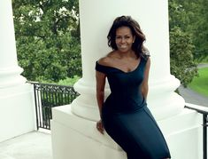 """First and Forever - """"Any First Lady, rightfully, gets to define her role,"""" says Mrs. Obama. """"And that's a wonderful gift of freedom."""" Atelier Versace dress. Fashion Editor: Tonne Goodman"""