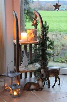 Übriggebliebene Schlitten Home Trends trend homes Noel Christmas, Rustic Christmas, Winter Christmas, Christmas Crafts, Christmas Ornaments, Navidad Diy, Christmas Inspiration, Xmas Decorations, Diy And Crafts