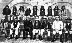 Geronimo and his band of Apache warriors in Fort Pickens, Florida