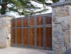 Blacksmith : Custom Designed Gates : Bronze, Brazilian Hardwood (Epe) and Stainless Steel