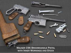 Mauser Broomhandle with Stock revolver model Rifles, Custom Guns, Home Defense, Guns And Ammo, Weapons Guns, Cool Guns, Military Weapons, Revolver, Tactical Gear