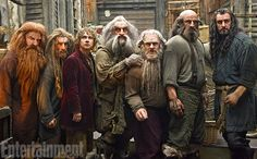 Glóin (Peter Hambleton), Nori (Jed Brophy), Bilbo Baggins (Martin Freeman), Oin (John Callen), Dori (Mark Hadlow), Dwalin (Graham McTavish), and Richard Armitage as Thorin Oakenshield -  'Hobbit': New 'Desolation of Smaug' Photos!