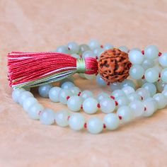 108 Mala Necklace, Buddhist Prayer Bead, Japa Mala Beads, Serpentine For Spirituality, Deepening Meditation Practice & Detox on Etsy, $63.00
