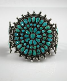 Vintage Zuni Cluster Bracelet | HOELS INDIAN SHOP
