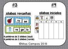 SPANISH ALPHABET LETTER R - 4 ROMPECABEZAS (RA, RE, RI, RO, RU REVIEW PUZZLES) - Repaso de la letra R y las silabas iniciales. Cuatro rompecabezas en cuatro niveles con RA RE RI RO RU.