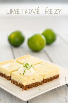 limetkové řezy Bread Bar, Czech Recipes, Coffee Break, Cheesecakes, Baked Goods, Tea Time, Deserts, Dessert Recipes, Food And Drink