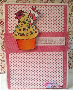"""Cupcake"" Birthday Card ~ Creative Paper Boutique"