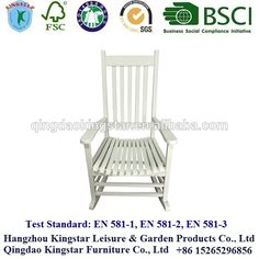 leisure ways outdoor wooden rocking chair