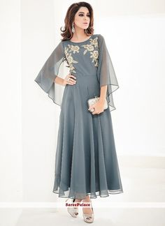 You searched for Ravishing Faux Georgette Embroidered Kurti Stylish Dresses, Casual Dresses, Fashion Dresses, 50 Fashion, Fashion Styles, Indian Fashion, Fashion Online, Kurti Designs Party Wear, Kurta Designs