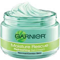 Garnier Moisture Rescue Refreshing Gel Cream locks-in moisture and blocks-out dryness using a formula with a unique combination of pure antioxidant fruit water extracts and skin conditioning Vitamin E. Cream For Dry Skin, Skin Cream, Eye Cream, Younique, Vitamin E, Aloe Vera, Anti Aging, Salicylic Acid Acne, Hyaluronic Acid