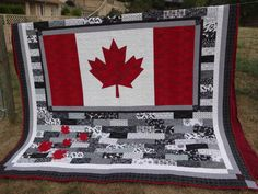 A couple of years ago, I asked my son what he would like in a quilt if I made one for him. After some thought, he said he'd like a quilt with a Quilting Projects, Quilting Designs, Sewing Projects, Quilting Tips, Sewing Tips, Sewing Ideas, Canadian Quilts, Quilts Canada, Canada Birthday