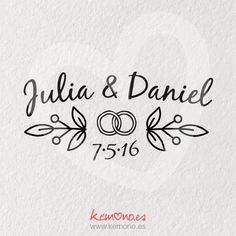 Ivan y karla Wedding Logos, Monogram Wedding, Monogram Logo, Wedding Invitations, Anniversary Cookies, Calligraphy Signs, Wedding Illustration, Custom Stamps, Silhouette