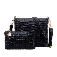 8498c6fb0935 2017 New Crocodile Women Bag Alligator Messenger Bags Ladies Shoulder Bag  Leather Handbags Clutch Crossbody Bags