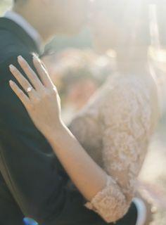 Beautiful Ring Detail  Jen Huang Photography Pronovias Wedding Gown Camellia Floral Design Chiali Meng Artistry Davia Lee Events Oak Grove Wedding in Santa Barbara