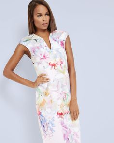 Hanging Gardens bodycon dress - Baby Pink   Dresses   Ted Baker