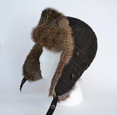 Boy Real Fur Hat, Aviator Hat, Ushanka, Russian Hat, Ski Hat,  Rabbit Fur, Fur Hat with Ear Flaps, Warm Hat, Childs Fur Hat, Trapper Hat Winter Wear, Winter Hats, Rabbit Fur Hat, Russian Hat, Fur Hats, Aviator Hat, Trapper Hats, Kids Hats, Ski