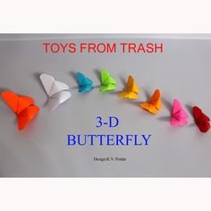 3-D butterfly tutorial