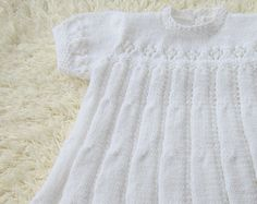 Hand Knitted Baptism Dress