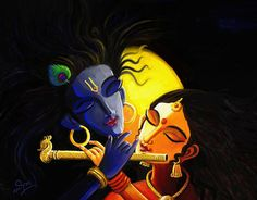 Krishna Art Print by Linkin Art. All prints are professionally printed, packaged, and shipped within 3 - 4 business days. Choose from multiple sizes and hundreds of frame and mat options. Radha Krishna Pictures, Krishna Radha, Lord Krishna, Shiva, Art Sketches, Art Drawings, Ganesha Painting, Madhubani Painting, Indian Art Paintings