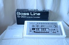 Roland Bass Line Vintage Analog Synthesizer overhauled! w/ box Roland Tb 303, Drum Machine, Magic Bullet, Electronic Music, Bass, Bullets, The Originals, Musical Instruments, Porn