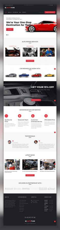 AutoTune - Car Tuning WordPress Theme CMS & Blog Templates, WordPress Themes, Cars & Motorcycles, Car Templates, Car Tuning Templates