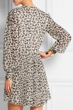 See by Chloé   Forget Me Knot printed georgette mini dress   NET-A-PORTER.COM
