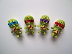 Tiny Teenage Mutant Ninja Turtles pattern by Ham and Eggs! (Free!)