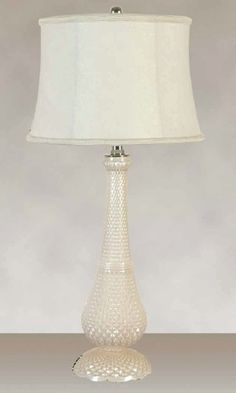 Glass Solid Cream Finish with a Cream Patterned Softback Shade (2 Lamps), $114.69