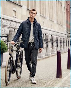 a271cfc7e1b1 Clément Chabernaud wears J.Crew s joggers with a quilted jacket. Tailored  Suits