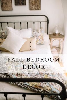 Fall Bedroom Decor & 3 simple ways to make your bed