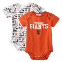 MLB Newborn/Infant 2 pack Bodysuit - San Francisco Giants $12.99