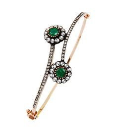 Bracelet for cute Women...... Diamond gold and emerald